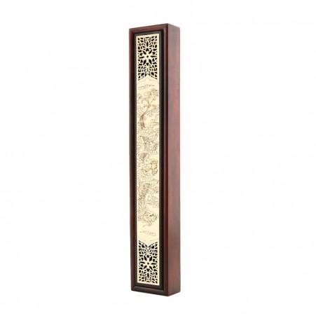 B6桃木黑檀木盒+龙/凤 Ebony + Peach Wood Box