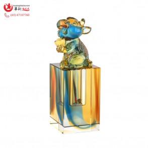 盛财琉璃牛/鼠章Wealth Ox/Rat Liuli Stamp