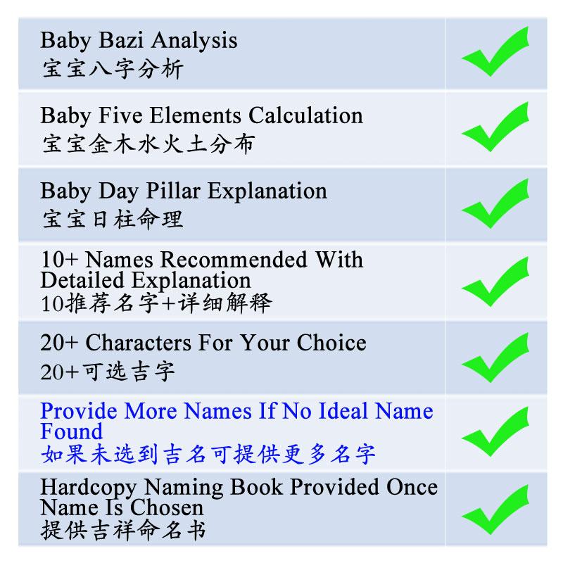 Baby Chinese Naming Singapore | BabySouvenir